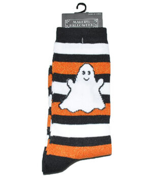 Maker's Halloween Socks-Ghost Rugby Crew