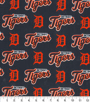 Detroit Tigers MLB Allover Cotton Fabric, , hi-res