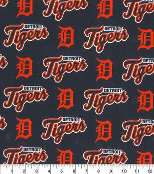 Detroit Tigers MLB Allover Cotton Fabric