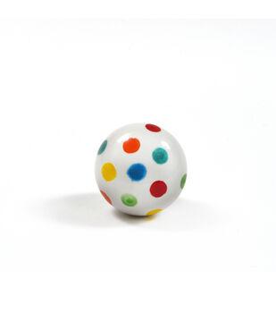 Dritz Home Ceramic Polka Dot Ceramic Ball Knob