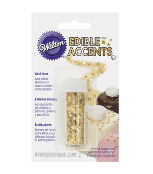 Wilton® Edible Glitter-Gold Stars