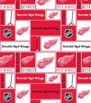 Detroit Red Wings NHL Block Cotton Fabric, , hi-res
