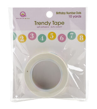 Queen & Co Birthday Numbers/Dots Trendy Tape