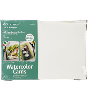 "Strathmore Cards & Envelopes 5""X6.875"" 50/Pkg-Watercolor"
