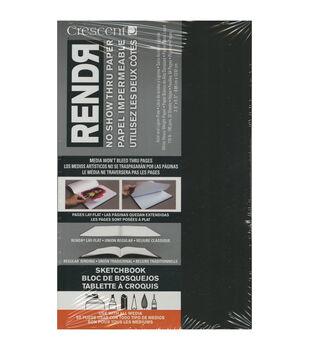 Crescent RENDR No Show Thru Lay Flat Sketch Book 5.5''x3.5''