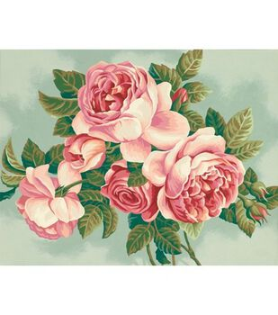 """Paint By Number Kit 14""""X11""""-Heirloom Roses"""