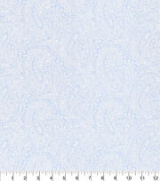 Made in America Cotton Fabric-Pearl Paisley Blue, , hi-res