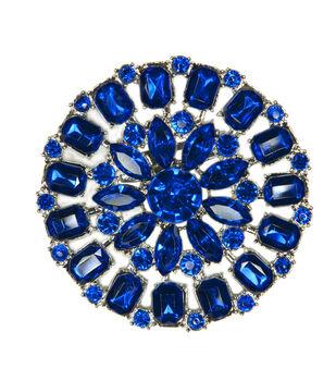 Laliberi Rhinestone Crystal Round Pin