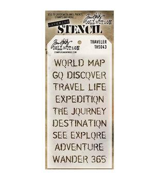 Travelers -layered Stencil