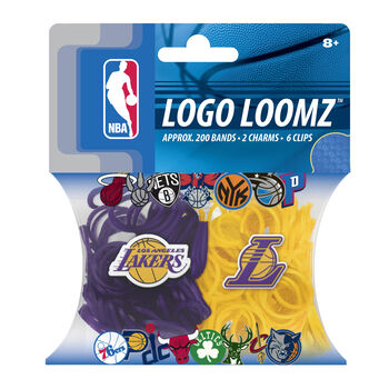 Forever Collectibles Logo Loomz Filler Pack Los Angeles Lakers