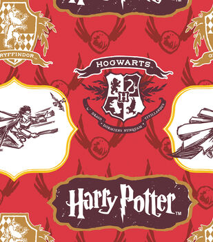 Harry Potter Crest and Logo Cotton Fabric