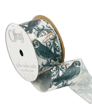"""Offray Enchanted 1-1/2"""" Ribbon Antique White"""