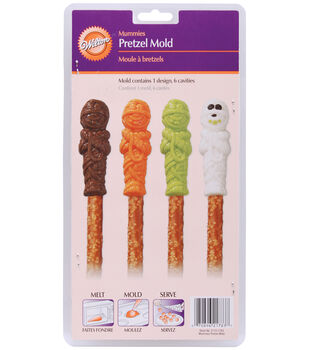 Wilton® Pretzel Mold-6 Cavity Mummy