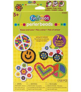 Perler Hangable Gift Box Kit-Peace And Love