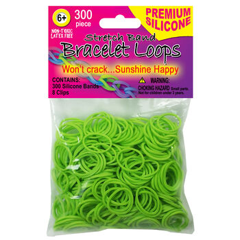 Pepperell Braiding Stretch Band Silicone Bracelet loops