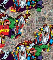 Marvel Retro Breakthrough Cotton Fabric, , hi-res