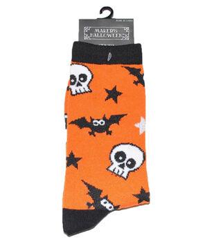 Maker's Halloween Socks-Bat Skull Crew