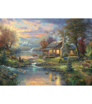 "Thomas Kinkade Nature's Paradise Counted Cross Stitch Kit-16""X12"" 16 Cnt"