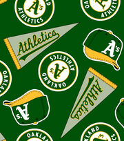 Oakland Athletics MLB  Fleece Fabric, , hi-res