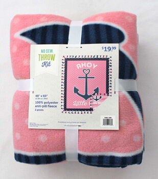 "48"" No Sew Throw-Ahoy Little Girl"