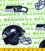 Seattle Seahawks NFL  White Fleece Fabric, , hi-res