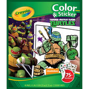 Color 'N Sticker Book-Teenage Mutant Ninja Turtles, , hi-res