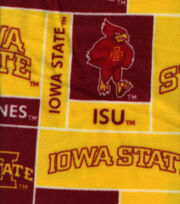 Iowa State University NCAA Block Fleece Fabric, , hi-res