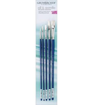 Grumbacher Oil & Acrylic Brush Set-5PK
