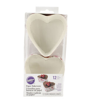 "Wilton® Disposable Bakeware 12/Pkg-3"" Heart"