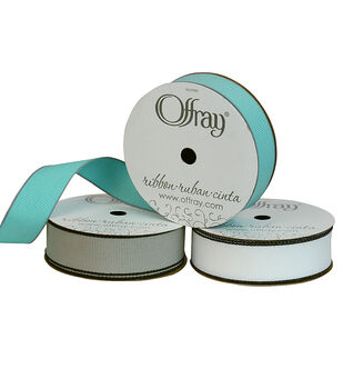 """Offray 7/8""""x9' Clear Edge Solid Grosgrain Ribbon"""