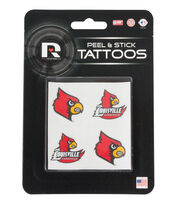 University of Louisville NCAA Peel & Stick Tattoos, , hi-res