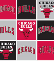 Chicago Bulls NBA  Fleece Fabric, , hi-res