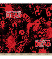 The Walking Dead Bloody Hands Fleece Fabric, , hi-res