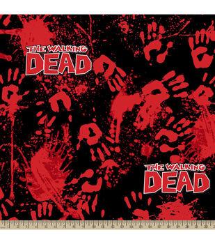 The Walking Dead Bloody Hands Fleece Fabric