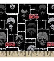 Walking Dead Zombie Face Cotton Fabric, , hi-res