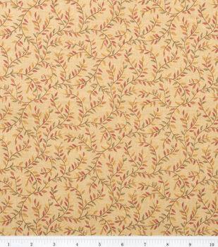 Keepsake Calico™ Cotton Fabric-Gold Vines