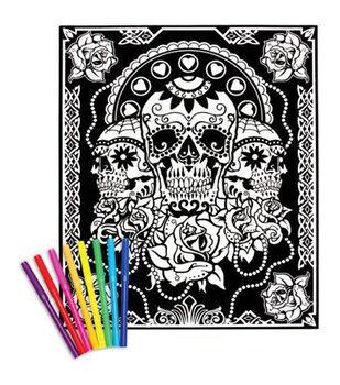 "Color-In Velvet Poster 16""X20""-Day Of The Dead"
