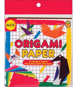 "Alex Toys Origami Paper 6""x6"" 18/Pkg Solid Colors"