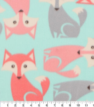 Blizzard Fleece Fabric-All Over Fox