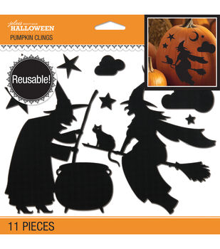 Jolee's Boutique Witch Silhouette Pumpkin Clings