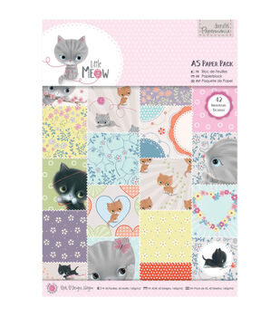 Papermania Little Meow Paper Pack A5