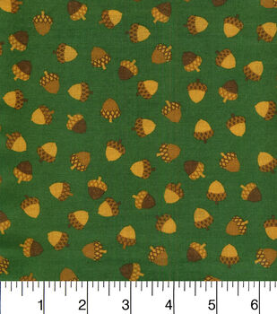 Fall Blessings Cotton Fabric-Mini Acorns Green