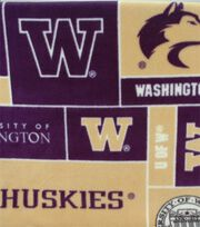University of Washington NCAA Block Fleece Fabric, , hi-res
