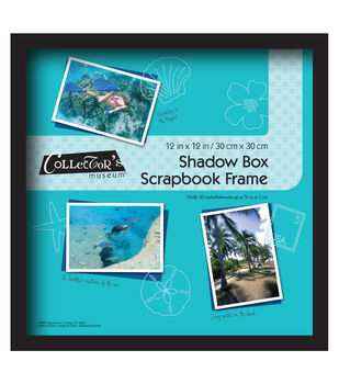 12x12 shadowbox frame black