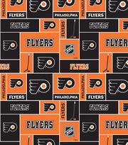 Philadelphia Flyers  NHL Block Cotton Fabric, , hi-res