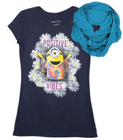 Minions Positive Vibe Shirt with Scarf, , hi-res