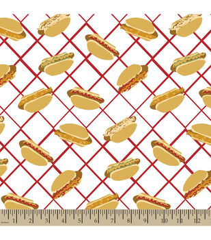 Snuggle Flannel Fabric-Hot Dogs