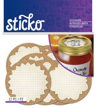 Burlap Mason Jar Labels Standard
