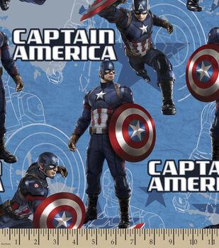 Marvel Captain America Star Cotton Fabric