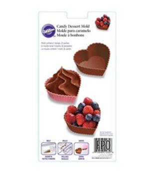 Candy Mold-3 Cavity Heart Dessert Shell